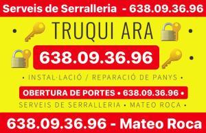 ALT SERRALLERS - TRUQUI ARA - 638 09 36 96 - INSTAL·LACIÓ DE PANYS - REPARACIÓ DE PANYS - OBERTURA DE PORTES - SERVEIS DE SERRALLERIA